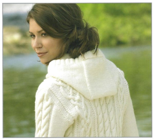 James C Brett Rustic Aran Hooded Jacket Knittting Pattern